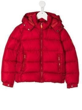Save The Duck Kids hooded padded jacket - Red