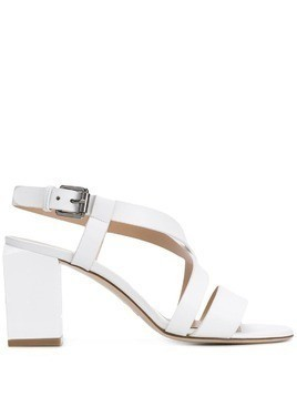 Deimille block heel sandals - White