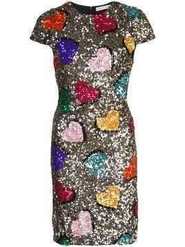 Alice+Olivia sequin embellished mini dress - Silver