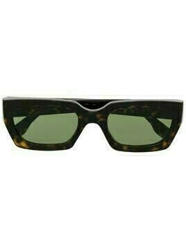 Retrosuperfuture tortoiseshell-effect rectangular-frame sunglasses - Brown