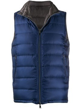 Herno padded zipped gilet - Blue