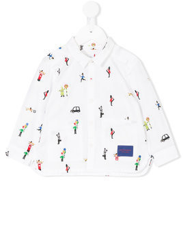 Burberry Kids long-sleeve embroidered shirt - White