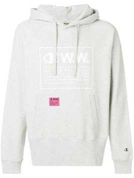 Champion X Wood Wood logo print hoodie - Grey
