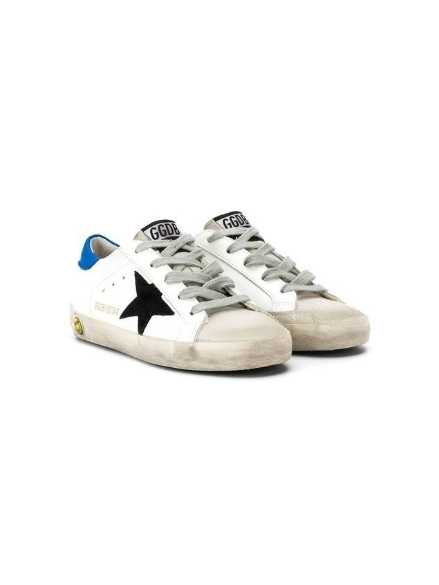 Golden Goose Kids star print lace up sneakers - White