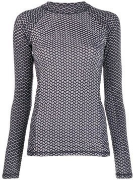 Lala Berlin printed long sleeve top - Grey