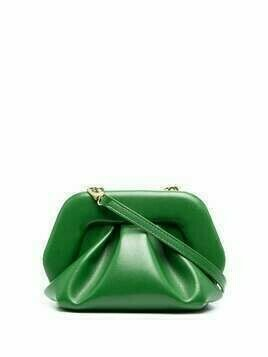 Themoirè Gea ruched clutch - Green