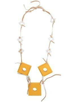 Corto Moltedo square charms necklace - Yellow