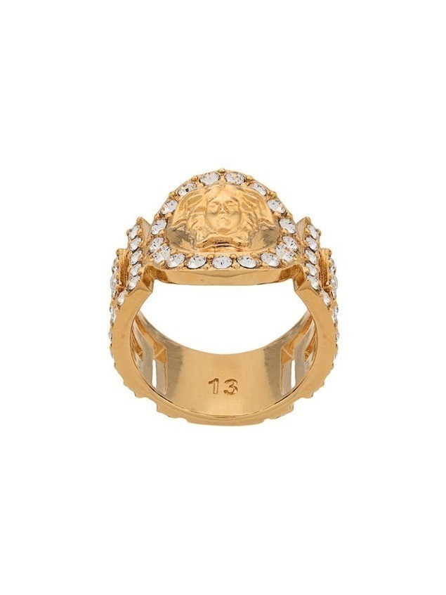 Versace Icon Medusa crystal ring - Gold