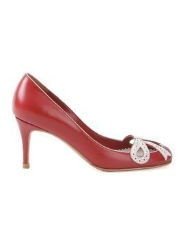 Sarah Chofakian round toe pumps - Red