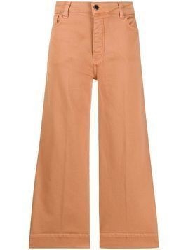 Victoria Victoria Beckham wide leg cropped jeans - PINK