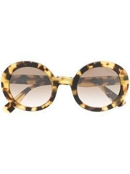 Miu Miu Eyewear oversized tortoiseshell sunglasses - Brown