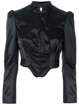 Romeo Gigli Pre-Owned structured cropped jacket - Black