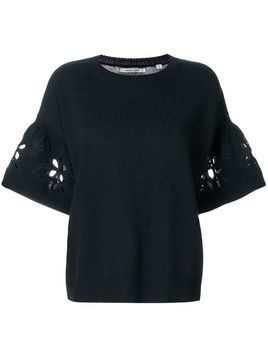 Chinti & Parker flower cut-out top - Blue