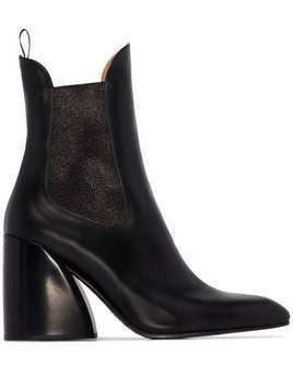 Chloé Wave 90mm ankle boots - Black