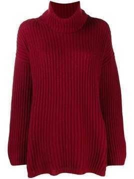Incentive! Cashmere rollneck cashmere sweater - Red