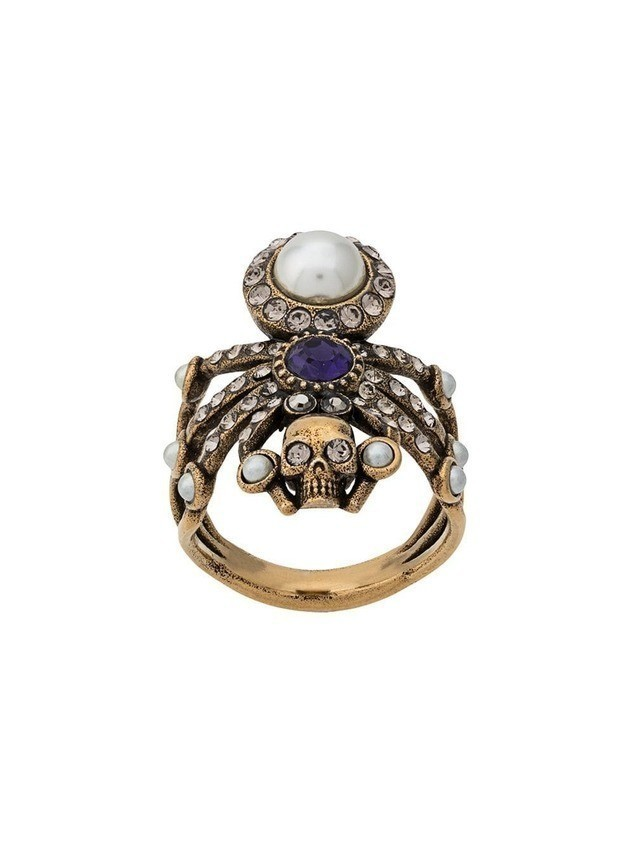 Alexander McQueen embellished spider ring - GOLD