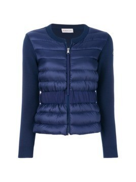 Moncler padded front knitted cardigan - Blue