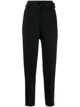 Akris Punto side stripe tapered-leg trousers - Black