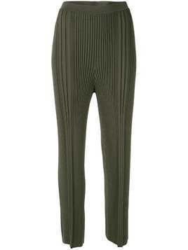 Dion Lee pinnacle pleat cropped trousers - Green