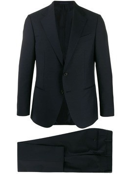 Caruso two piece slim-fit suit - Blue