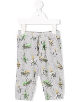 Stella Mccartney Kids cricket printed knit trousers - Grey