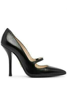 Prada Pre-Owned strap detail pointed pumps - Black