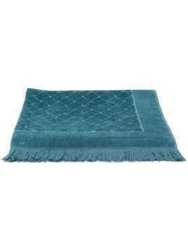 Bottega Veneta woven effect beach towel - Blue