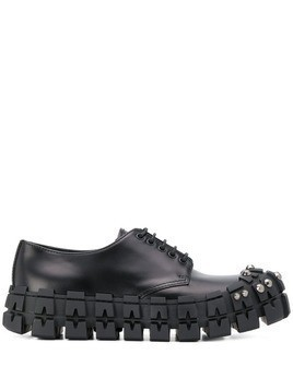 Prada chunky studded derby shoes - Black