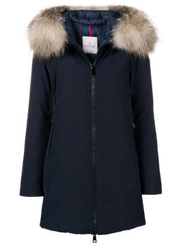 Moncler hooded parka - Blue