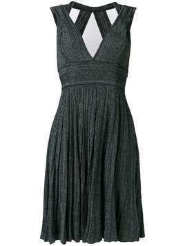 Antonino Valenti v-neck knitted midi dress - Black