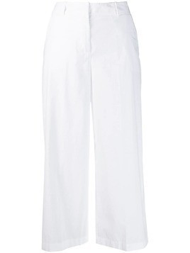 Kiltie tailored cropped trousers - White
