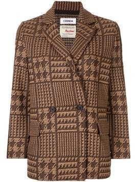 Coohem tech tweed jacket - Brown