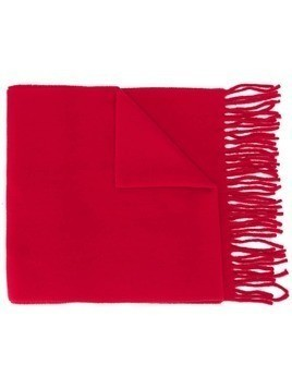 Vivienne Westwood embroidered logo fringed scarf
