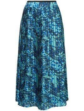 Victoria Victoria Beckham printed pleated skirt - Blue
