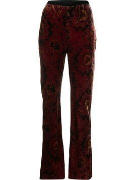 Mes Demoiselles Alun velvet trousers - Red