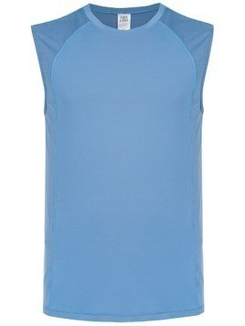 Track & Field panelled tank top - Blue
