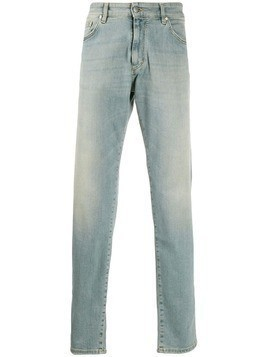 Represent straight leg stonewashed jeans - Blue