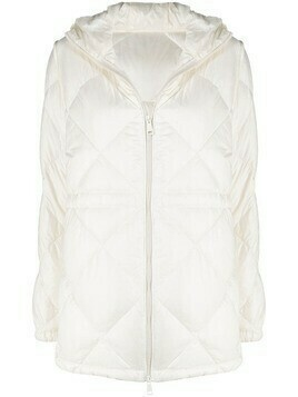 Moncler quilted zip-up jacket - White