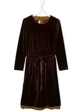 Caffe' D'orzo Mia velvet dress - Brown