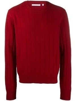 Helmut Lang ribbed crew jumper - Red