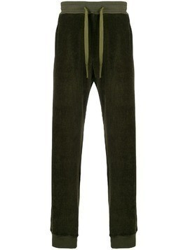 Haider Ackermann velour track pants - Green