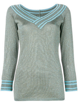 Charlott metallic knitted pullover - Green