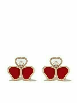 Chopard 18kt rose gold, diamond Happy Hearts earrings - PINK