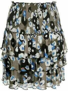 Lala Berlin abstract-print tiered skirt - Neutrals