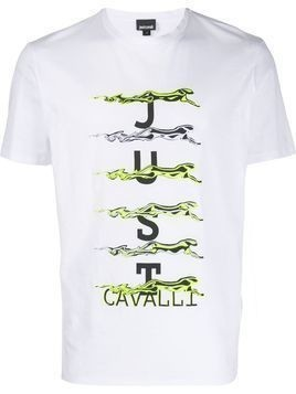 Just Cavalli jaguar logo T-shirt - White