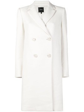 Theory double breasted coat - White