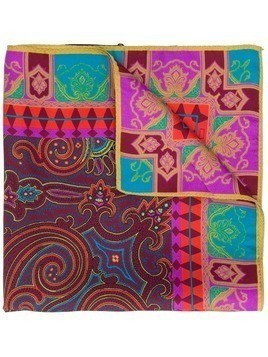 Etro paisley print scarf - Red