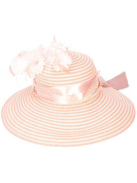 Gigi Burris Millinery feather embellished hat - Pink
