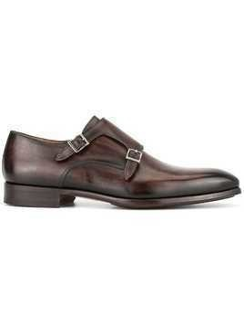 Magnanni monk shoes - Brown