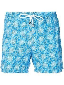 Borrelli patterned swimming trunks - Blue